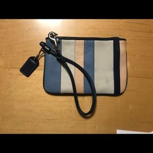 1 Gently Used and ❤️ Striped Coach Wristlet